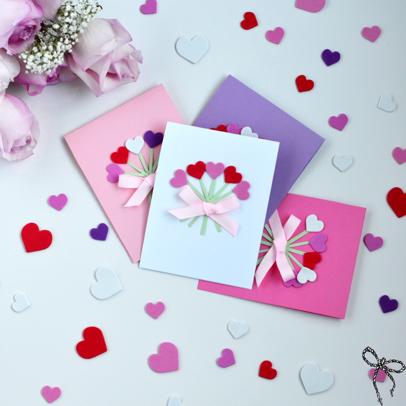 DIY Valentines Day Cards Wear Bows and Smile – Handmade Valentine Day Card