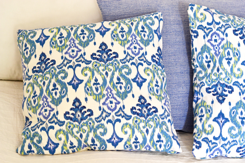 DIY Headboard and Throw Pillows ~ Wear Bows and Smile